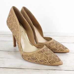 Jessica Simpson • Charie Beige Leather Pumps